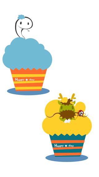 カップケーキリレー