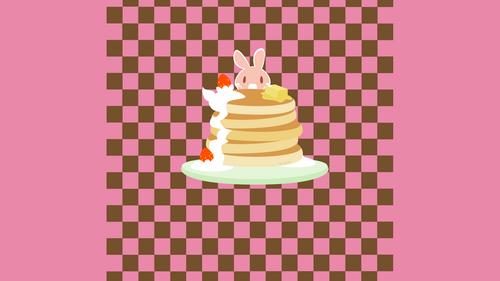 パンケーキむしゃむしゃ