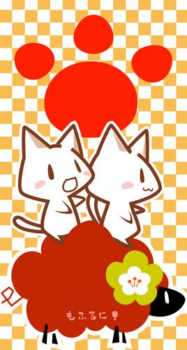 ねこ,ひつじ,猫