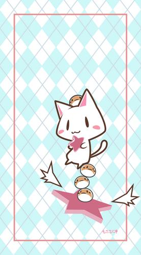 猫、ふくら雀、すずめ