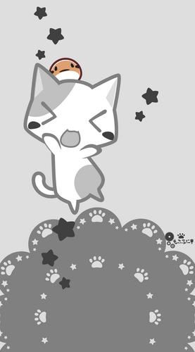 猫,ねこ,ふくら雀,まめすずめ